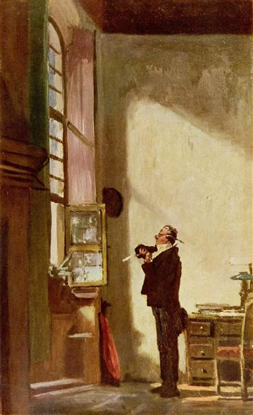 The Writer, c.1880 - Carl Spitzweg