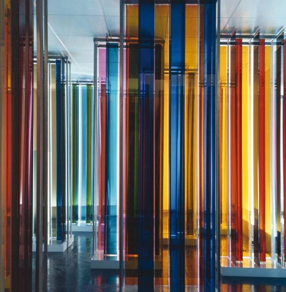 """Transchromie (from the exhibition """"Cruz-Diez. Cinq propositions sur la couleur""""), 1969 - Carlos Cruz-Diez"""