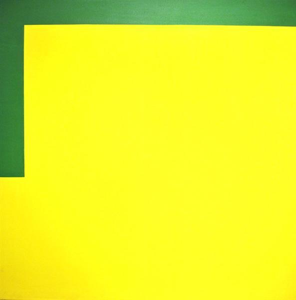 More yellow, less green, 1989 - Carmen Herrera