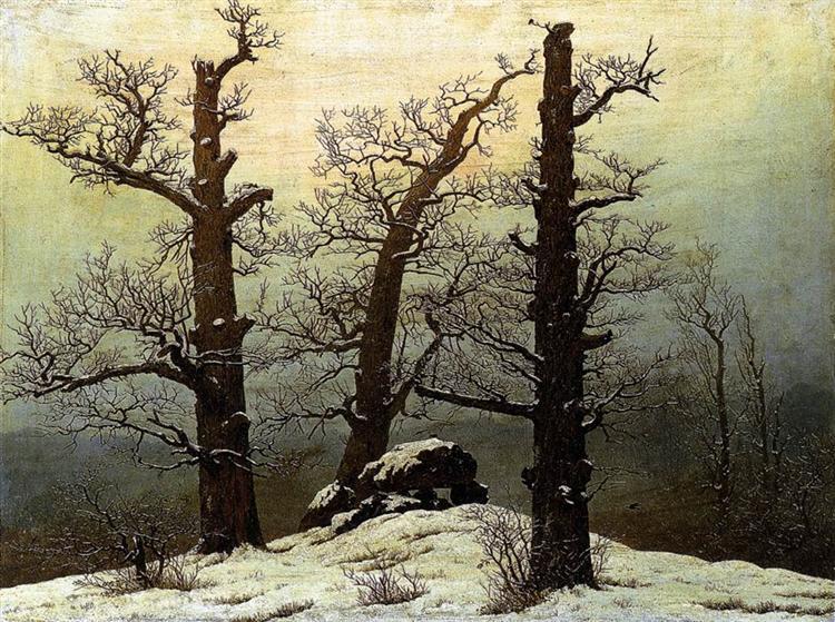 Dolmen in snow, 1807 - Caspar David Friedrich