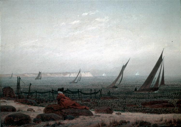 Woman on the beach of Ruegen, 1818 - Caspar David Friedrich