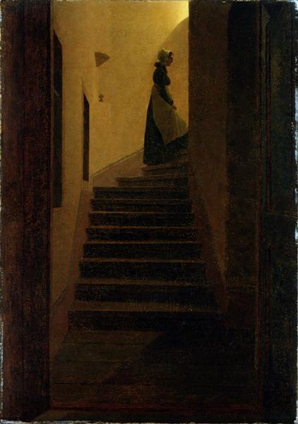 Woman on the stairs, 1825 - Caspar David Friedrich