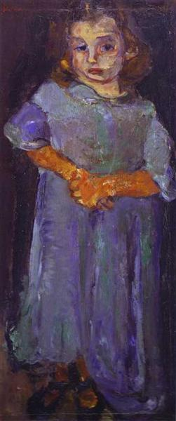 Little Girl in Blue, c.1934 - c.1935 - Chaim Soutine