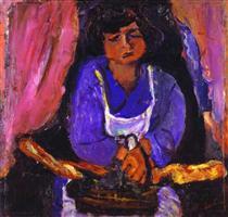 Servant Girl in Blue - Chaim Soutine