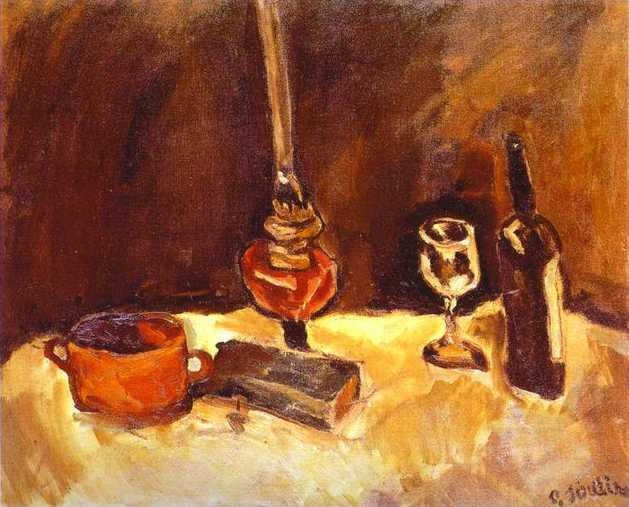 Still Life with Lamp - Chaim Soutine - WikiArt.org - encyclopedia of ...