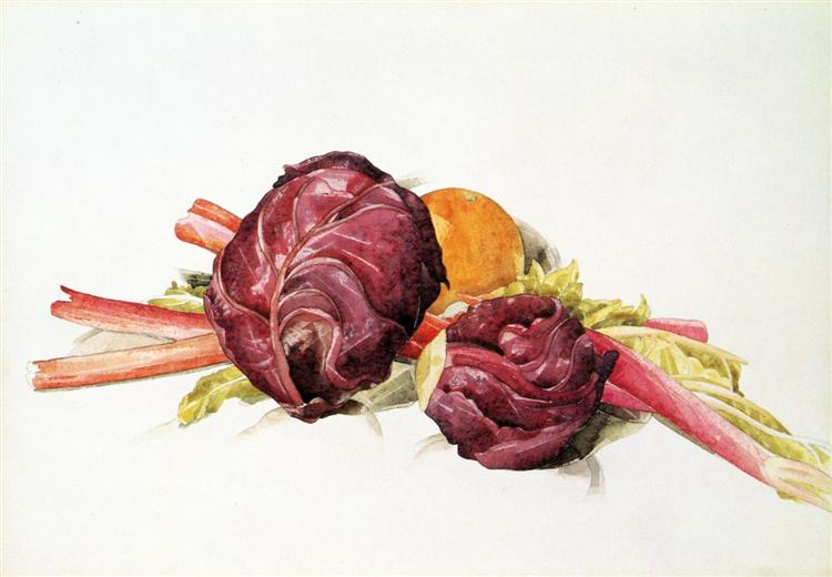 Red Cabbages, Rhubarb and Orange, 1929 - Charles Demuth