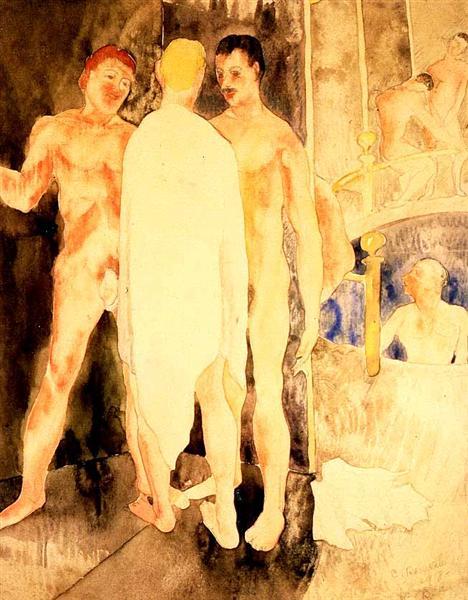 Turkish Bath with Self Portrait, 1918 - Charles Demuth