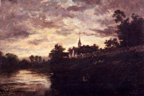 Banks of the Oise - Charles-Francois Daubigny