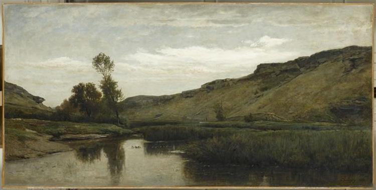 The big valley of the Optevoz, 1857 - Charles-Francois Daubigny