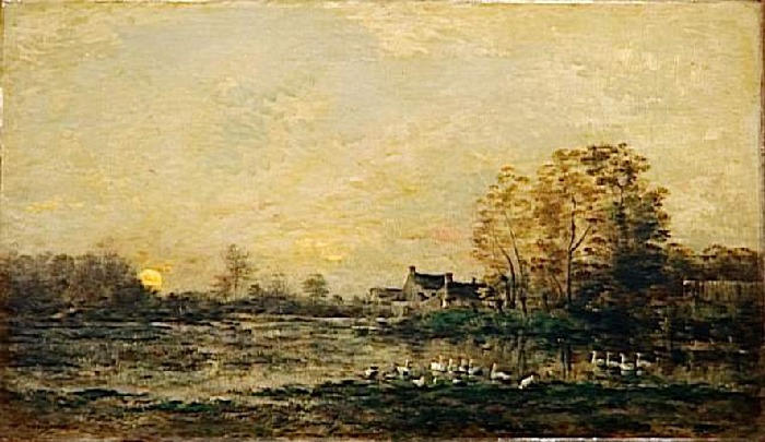 The bog in the sunset, 1861 - Charles-Francois Daubigny