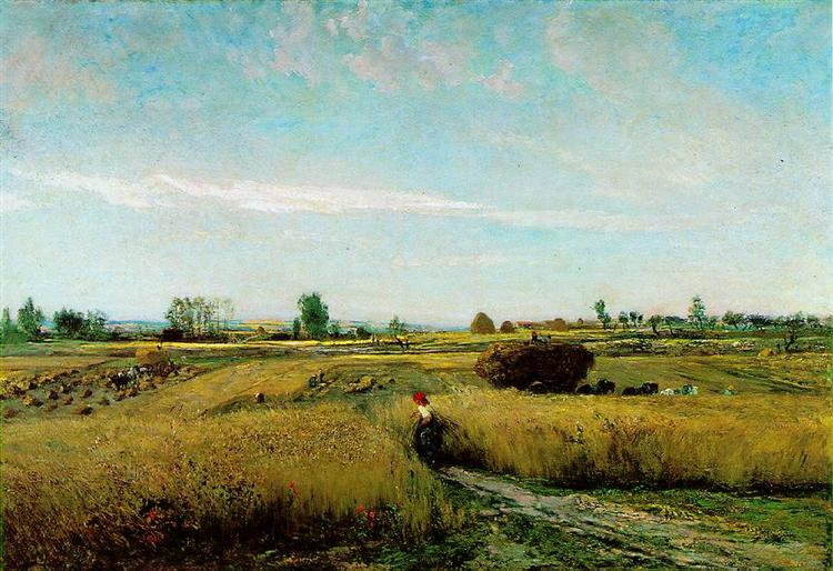 The Harvest, 1851 - Charles-Francois Daubigny