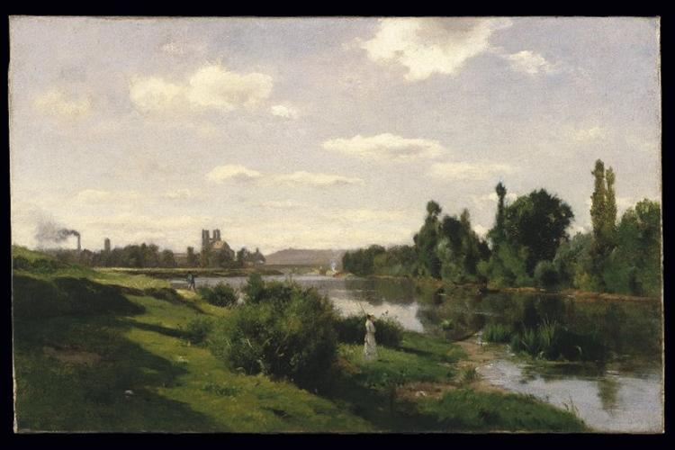 The River Seine at Mantes, c.1856 - Charles-Francois Daubigny