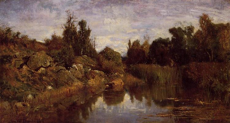 The Water's Edge, c.1856 - Charles-Francois Daubigny