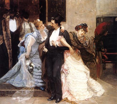 À l'Aube (detail), 1875 - Charles Hermans