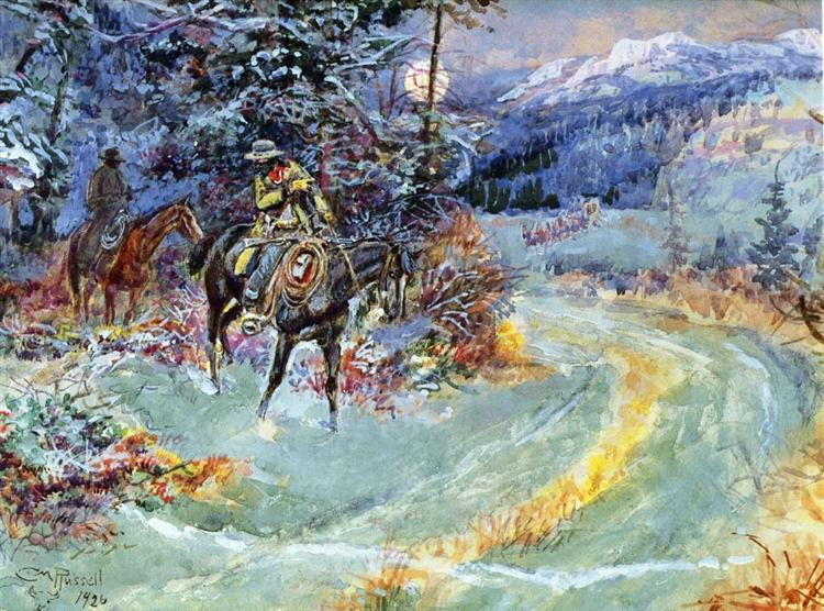 An Unscheduled Stop, 1926 - Charles M. Russell