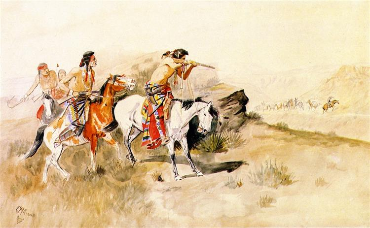 Attack on Muleteers, 1895 - Charles M. Russell