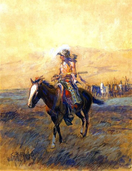 Cavalry Mounts for the Brave, 1907 - Charles Marion Russell