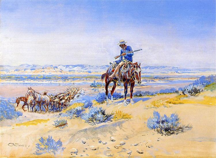 Changing Horses - Charles M. Russell