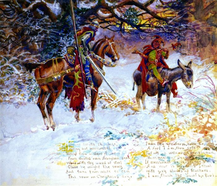 Fool and the Knight, 1914 - Charles M. Russell