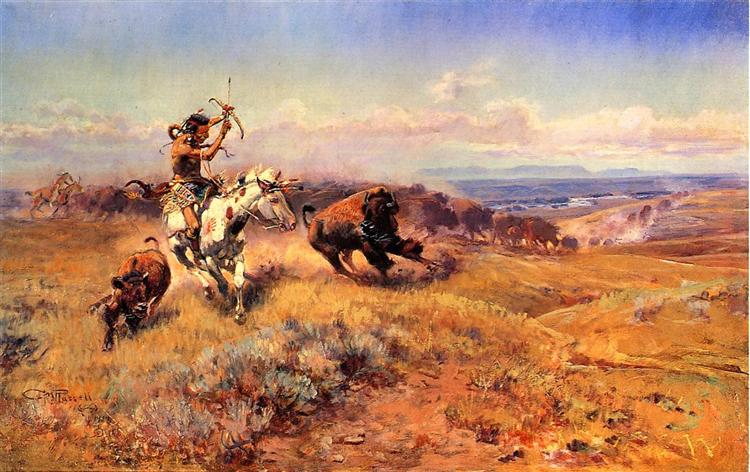 Horse of the Hunter, 1919 - Charles M. Russell