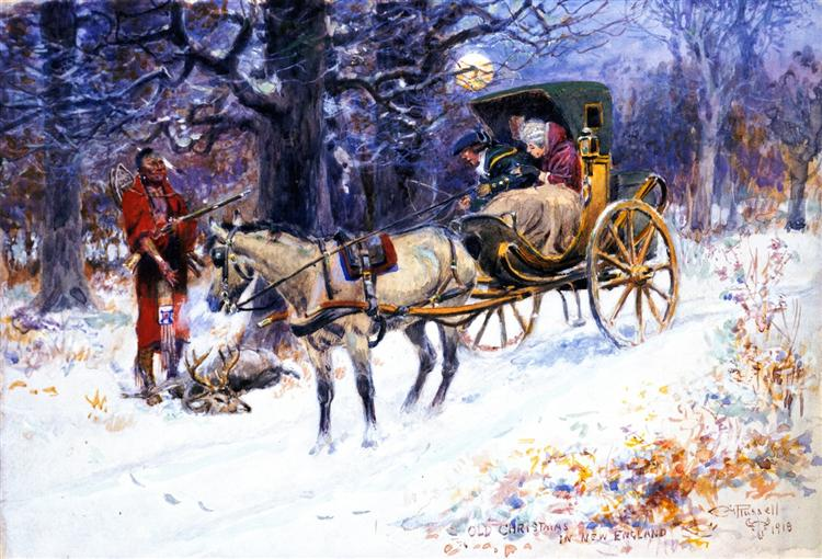 Old Christmas in New England, 1918 - Charles M. Russell