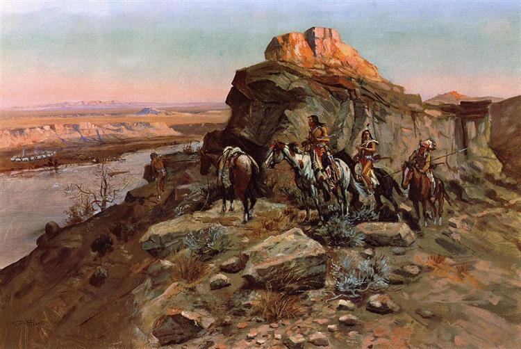 Planning the Attack, 1901 - Charles M. Russell