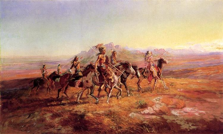 Sun River War Party, 1903 - Charles M. Russell