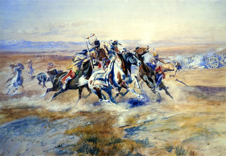 The Attack, 1903 - Charles M. Russell