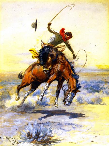 The Bucker, 1904 - Charles Marion Russell