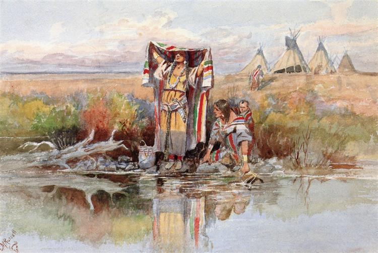Water Girl, 1895 - Чарльз Марион Рассел