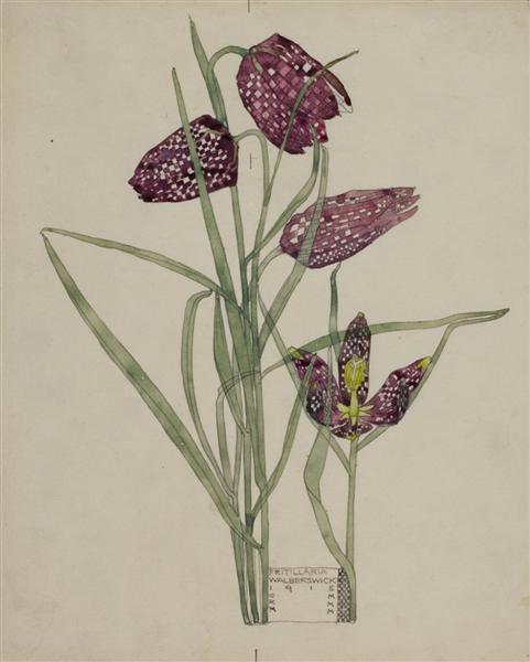 Fritillaria, 1915 - Чарльз Ренні Макінтош