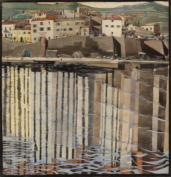 La Rue du Soleil, Port Vendres - Charles Rennie Mackintosh