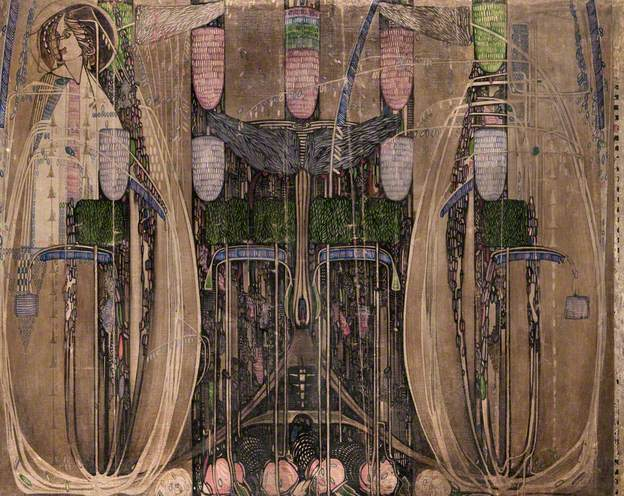 Wall Panel for the Dug-Out (Willow Tea Rooms, Glasgow) - right, 1917 - Charles Rennie Mackintosh