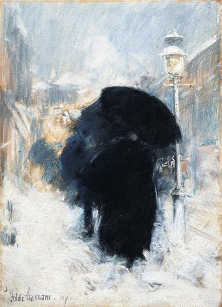 A New York Blizzard, 1890 - Childe Hassam
