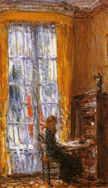 At the Writing Desk, 1910 - Childe Hassam