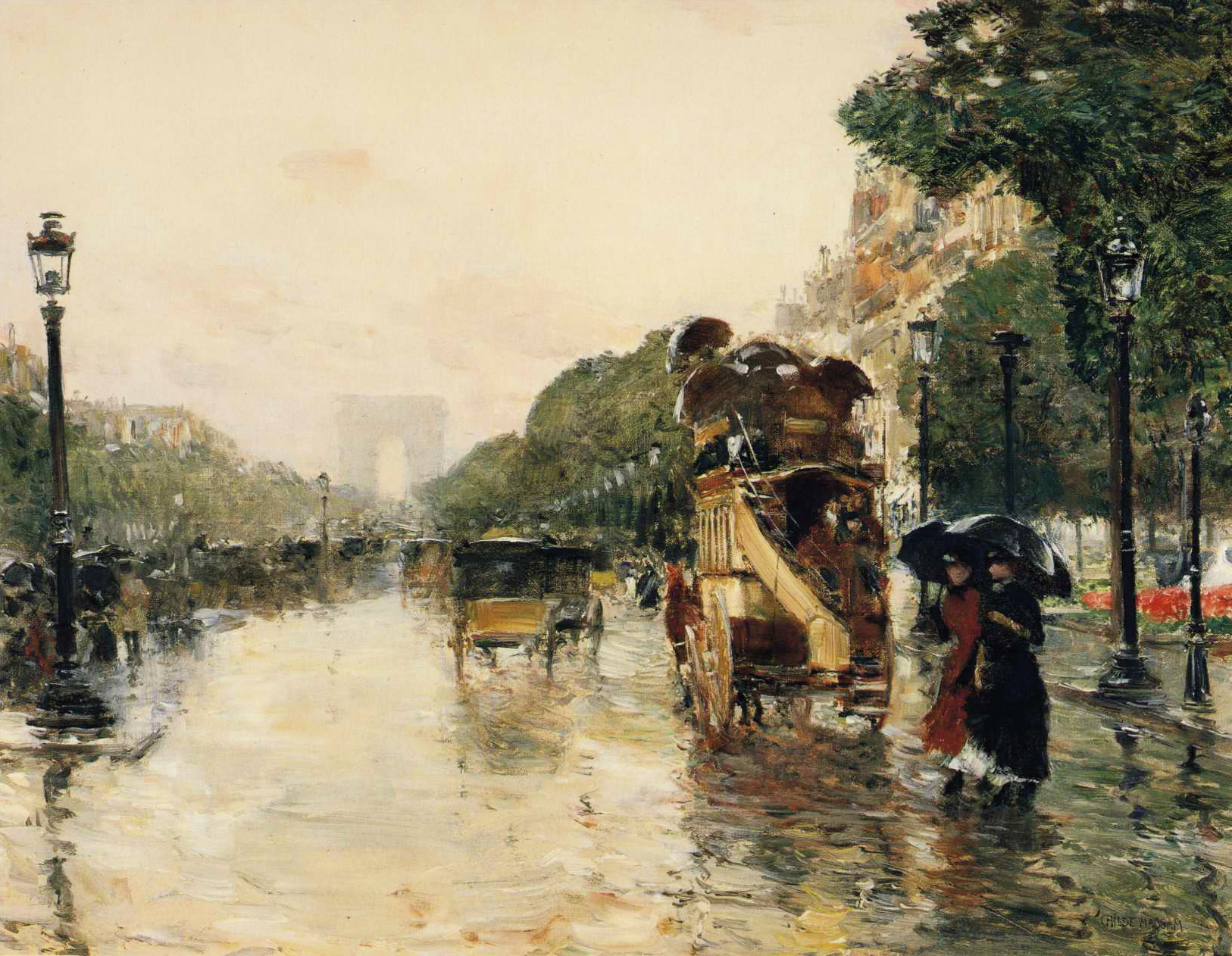 Champs Elysees Paris 1889 Childe Hassam