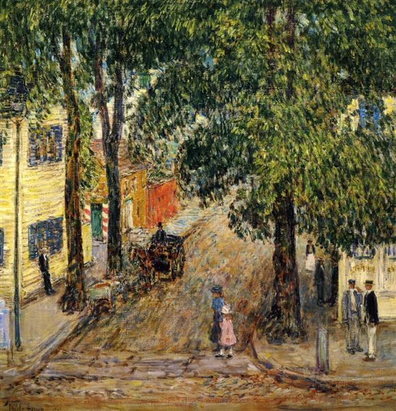 Duke Street, Newport, 1901 - Childe Hassam