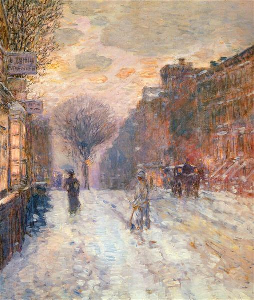 Early Evening, After Snowfall, 1906 - Childe Hassam