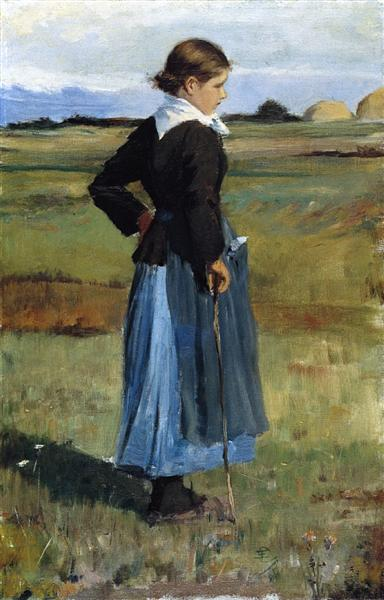 French Peasant Girl, 1893 - Childe Hassam
