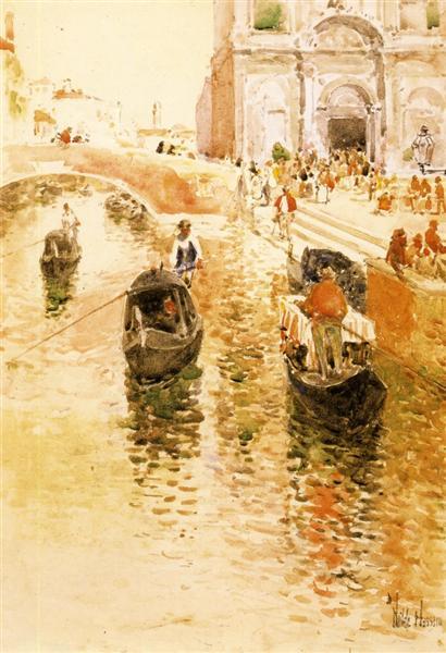 Gondoliers, 1891 - Childe Hassam