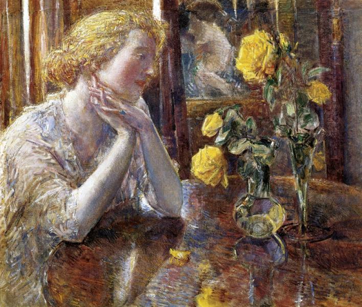 Marechal Niel Roses, 1919 - Childe Hassam