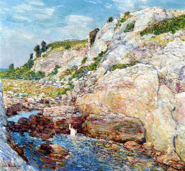 Northeast Gorge at Appledore, 1912 - Childe Hassam