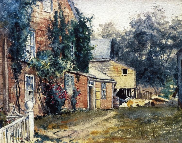Old House, Nantucket, 1882 - Childe Hassam