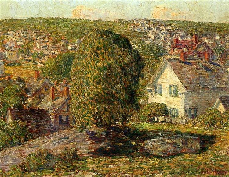 Outskirts of East Gloucester, 1918 - Childe Hassam