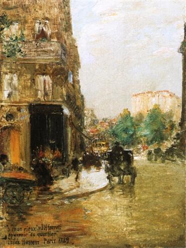 Paris Street Scene - Childe Hassam