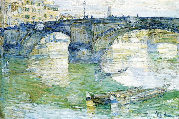 Ponte Santa Trinita, 1897 - Childe Hassam