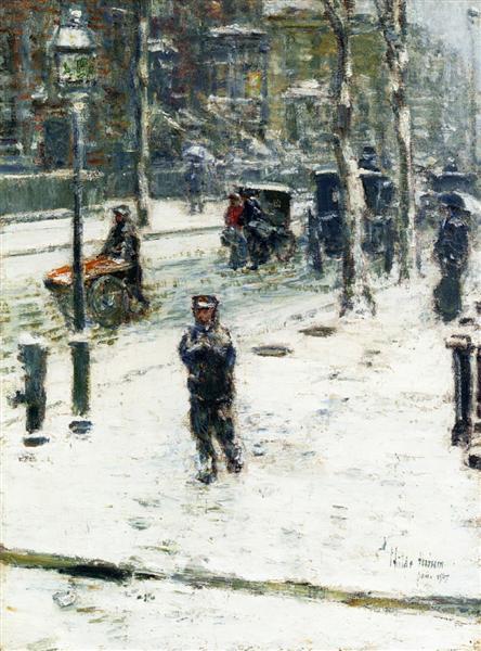 Snow Storm, Fifth Avenue, 1907 - Childe Hassam