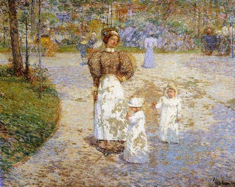 Spring in Central Park (aka Springtime), 1898 - Childe Hassam
