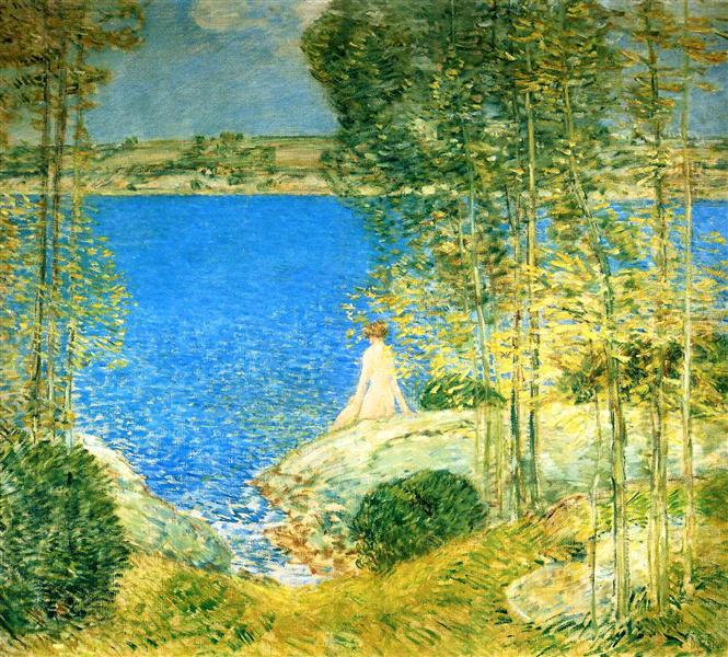 The Bather, 1904 - Childe Hassam
