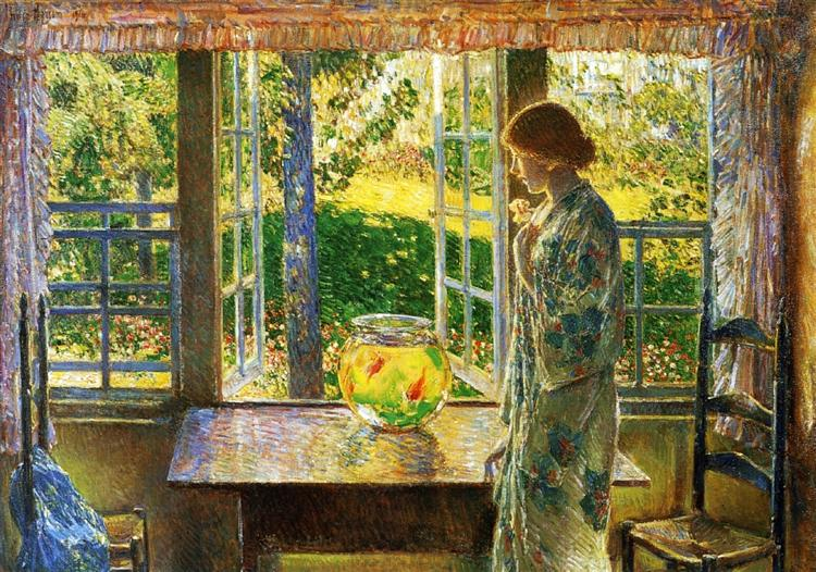 The Goldfish Window, 1916 - Childe Hassam